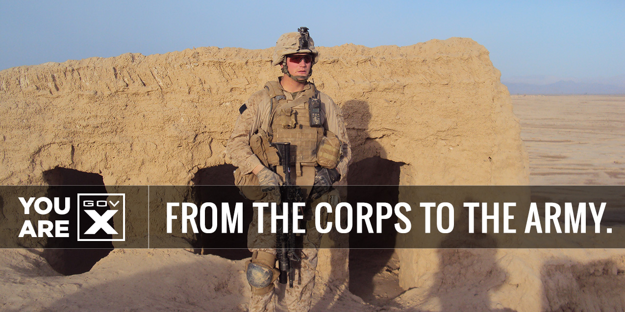 FROM THE CORPS TO THE ARMY: Adam N.